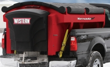 Spreaders , Electrical loaded salt spreader , Western Plows